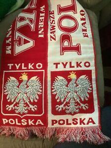 Polska Poland National Team Country Pride Scarf - Red & White