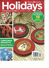 FONS & PORTER'S,HOLIDAYS CHRISTMAS QUILT & WINTER CRAFTS, 2016 CHRISTMAS PROJECT