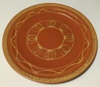 Vintage Pacific Pottery Orange Cream Art Plate Dish 613 Hostess California