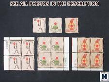 NobleSpirit No Reserve } Popular US 1610-1612 MNH Plate Blocks & Singles =$74 CV