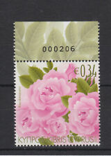 CYPRUS MNH STAMP SET 2011 AROMATIC FLOWERS ROSES SG 1243 SCENTED