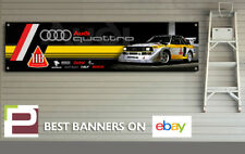Audi Quattro Group B Rally Car Banner for Workshop, Garage, Office etc