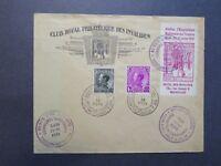 Belgium SC# B152 & B153 on Expo Cover w/ Label (II) - Z7925