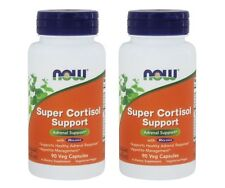 Now Foods Super Cortisol Support, Adrenal Support,  90 Veg Capsules, 2 Pack