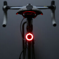USB Rechargeable Cycling Bicycle Bike Rear Tail Safety Warning LED Lamp Light