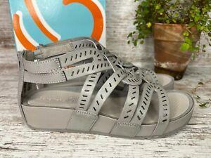 Women's Baretraps Lorra Grey Gladiator Sandals Rebound Tech Size 9 M
