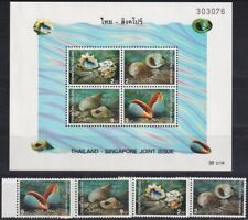 F-EX19844 THAILAND 1997 MNH SINGAPORE JOINT ISSUE SHELL SNAIL CARACOLES.