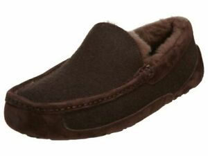 NEW Ugg Ascot Wool Genuine Shearling Lined Brown Slippers US Size US 8 & 9