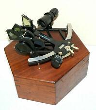 "Tamaya Nautical 1712 Fully Working 9"" Navigation Marine Reproduction sextant Box"