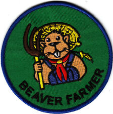 Boy Scout Badge embroidered BEAVER FARMER