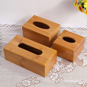 Desktop Organizer Bamboo Storage box Tissue Holder Napkin holder Tissue Rack