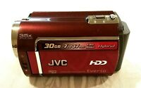 JVC Everio Hard Disk Camcorder GZ-MG330RAG 35X Optical Zoom 30GB Hybrid Red