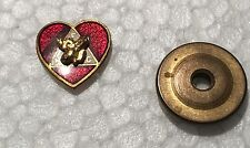 BPOE ELKS FRATERNAL ORG SMALL  LAPEL SCREW BACK HEART PIN   WITH BACK