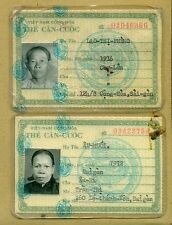 Vietnam War ID Card 1969 Pair #1