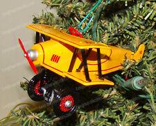 Kiddy Car Classic, 1930 Custom Biplane (QX6975 Hallmark Ornament, 2001) Die Cast