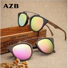 Handmade Plate Wood Polarized Sunglasses Imitation Wood Frame Outdoor Glasses