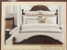 Tommy Bahama EMBROIDERED CANE COCONUT European Pillow Sham - NIP