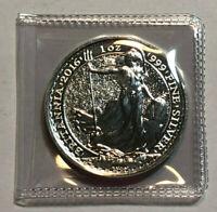 2016 Great Britain 1 oz Silver Brittania 2 GBP Coin BU, 1 oz of .999 Fine Silver