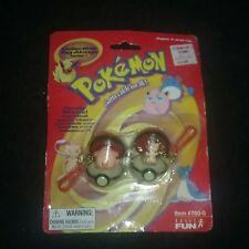 Pokémon Mew Chansey Mini Poke Ball Key chain Tag Alongs New Action Figure Toy