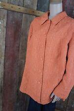 THEA42plus * Jacke * Übergangszeit * Warmes Orange * Crinkle * Gr ca. 50