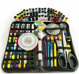 172 pcs Portable Travel Home Sewing zipped bag Needle Thread Scissor meter Set