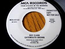 "ROY CLARK, GATEMOUTH BROWN - FOUR O'CLOCK IN THE MORNING  7"" VINYL PROMO"