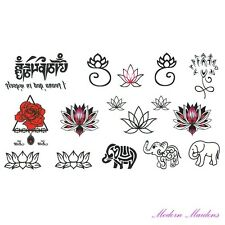 Mixed Zen Removable Temporary Tattoo Body Art 106x61mm