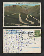 1928 FAMOUS DOUBLE HAIRPINS ROAD TO LOOKOUT MTN DENVER MTN PARKS COLO POSTCARD
