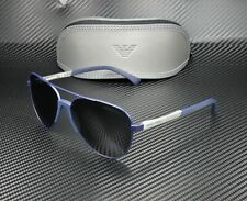 EMPORIO ARMANI EA2059 320287 Matte Blue Grey 61 mm Men's Sunglasses