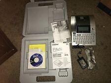 Brother PT-2710 Desktop Labeling System Silver/Black with case.