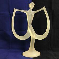 Austin Prod Large Art Deco Lady Sculpture Lucite Acrylic  Figure Statue 161569