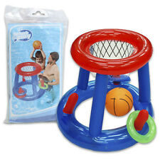 Bestway 5pc Inflatable Pool Play Game Center Basketball Hoop Ball Ring Toss Toy