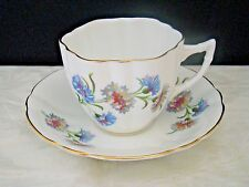 Vintage Windsor England Bone China Tea Cup & Saucer Cornflower