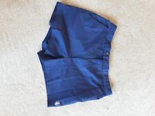 "Mens Vintage Retro Mod Short Cotton Blend Chino Shorts 80s Navy 34"" W"