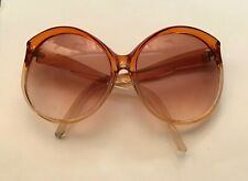 Foster Grant Usa Amber Clear Oversized Round Retro Vintage Sunglasses Vgc N.O.S