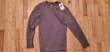 Nike Men's L Pro Combat Compression Shirt Gray Long Sleeve Fitness 269603-545