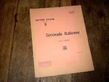 sérénade italienne Op.28 pour piano 1911 Victor Staub