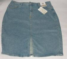 Primark Ladies Denim Jean Midi Skirt Size 18