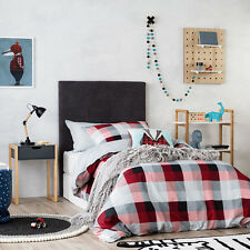 MR NORTH CHECK DOUBLE bed Quilt Doona Duvet Cover set ADAIRS & Badger cushion