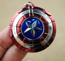 Captain America Shield Cosplay Keyring Rotatable Star Alloy Keychain US Seller