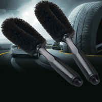 Car Wheel Cleaning Brush Tool Tire Washing Clean Tyre Soft Bristle Cleaner Black