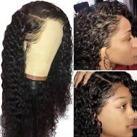 Water Curly Wave 13X6 Lace Front Wig Malaysian Remy Human Hair Wigs Pre Plucked