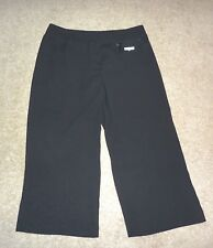 NEW Vince Camuto Black Wide Leg Cropped Pants 12P or 12