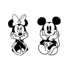 PEGATINA VINILO MICKEY MINNIE MOUSE HABITACION PARED STICKER DECAL INFANTIL