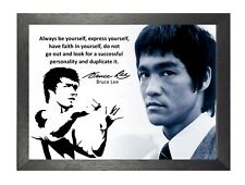 Bruce Lee 62 Hong Kong American Actor Film Director Martial Arts Quote Poster