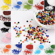 50g 2mm/3mm/4mm Mini Opaque Color Round Glass Seed Beads Round Pony Bead Spacers