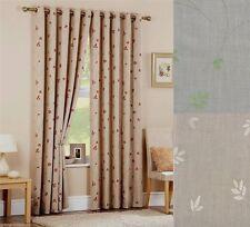 Cotton Blend Ring Top Curtains & Pelmets