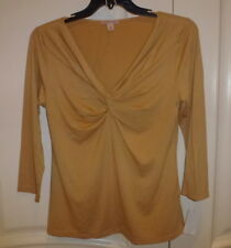 CHA CHA VENTE Beautiful Beige V-Neck Blouse - sz XL - NWT