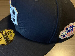 Detroit Tigers New Era 1984 World Series 59Fifty Cap Hat 7 5/8 Cooperstown Col