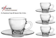"Fixtures ""Clear"" Espresso Cups & Saucer set"